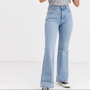 Levi's Premium Ribcage Flare high waist jeans 30